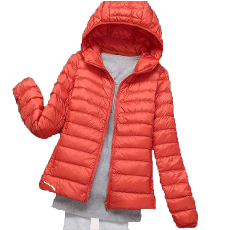 New 2016 Autumn Winter short jacket Woman Slim Hooded Warm   Down   Jacket   Coat   Women Ultra Light 90% White Duck   Down   Parkas AE1596