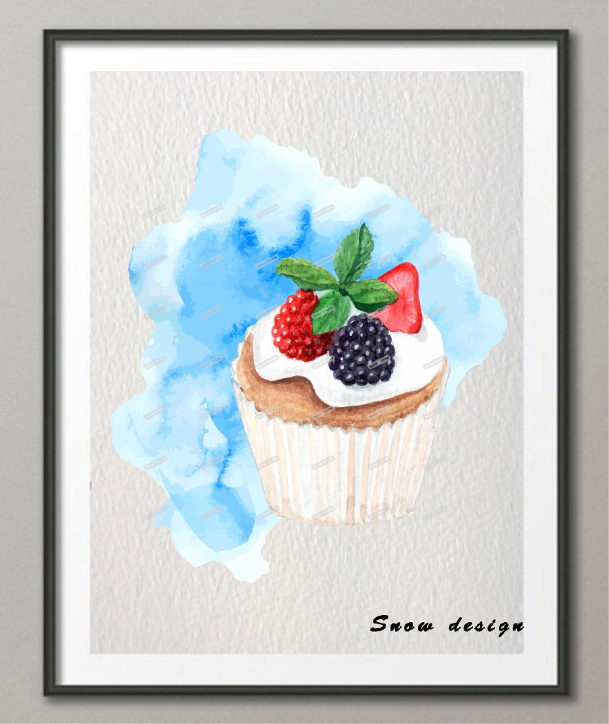 Popular bakery poster buy cheap bakery poster lots from for Cupcake wall art