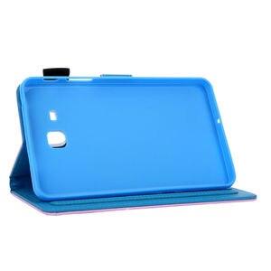 Image 4 - SM T280 מקרה עבור Samsung Galaxy Tab a6 7.0 2016 T280 T285 SM T285 כיסוי אופן בסיסי אופנה חתול הדפסת Tablet Stand מעטפת + מתנה