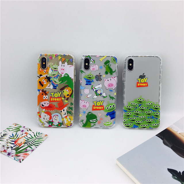 size 40 7224b 2bcaf US $2.49  for iPhone X i8 i6 6s i7 plus phone cases Cute cartoon Emboss Toy  Story soft TPU air pressure back cover cases-in Fitted Cases from ...