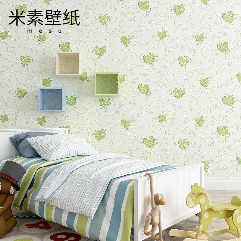 2017 pour enfants Yuan/rouleau offre réel papier peint Papel De Parede Photo M enfants 3d garçon papier peint fille dessin animé chaud beau coeur