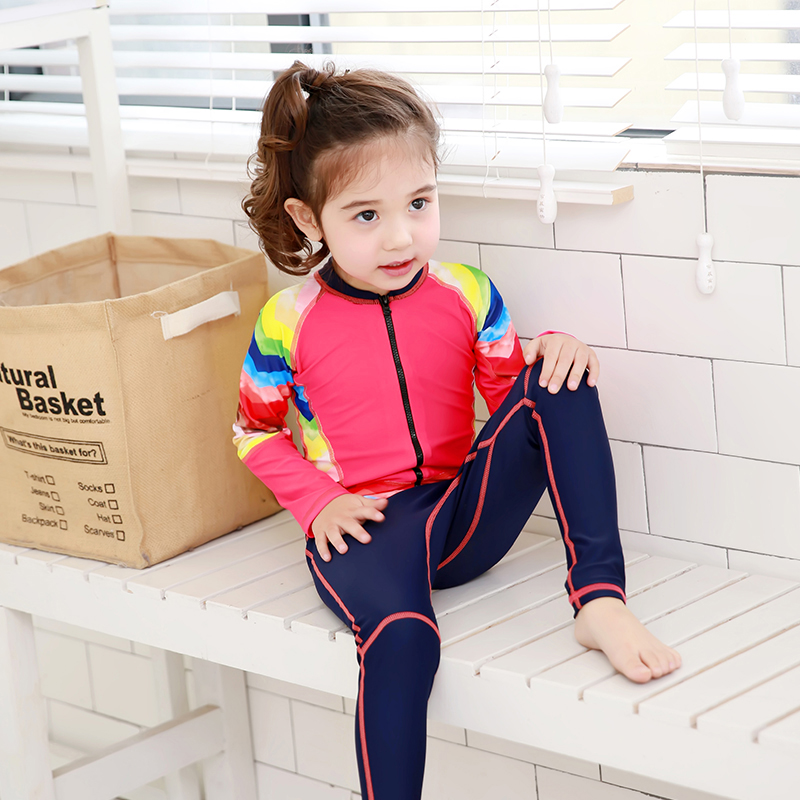 Children Clothes 2017 Girls Boys Sports Long Sleeve Swimsuit One-piece Swimwear Kids Swimming Suit Professional Swimwear