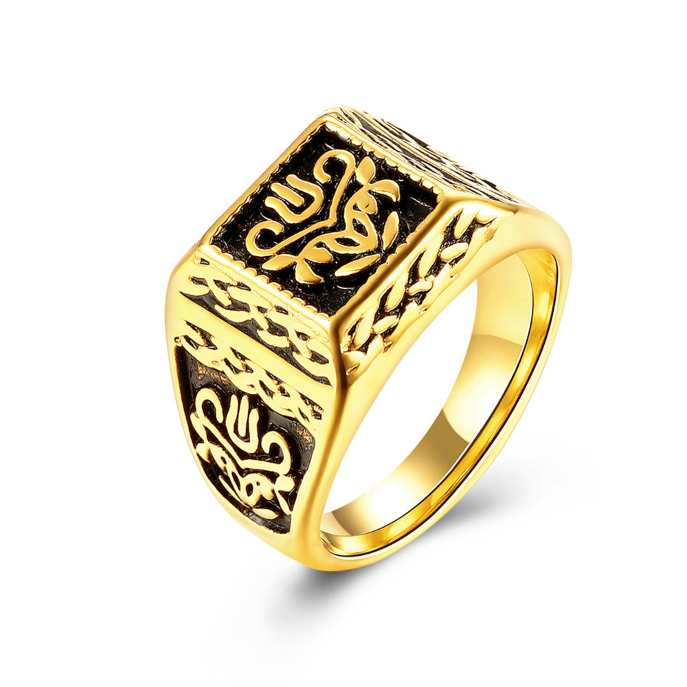 African Gold Color Man Rings Indal Classic Vintage Men India Wedding