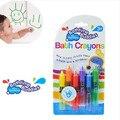 6 colores la hora del baño amigos marca de baño del bebé crayones juguetes / Kids niños lápices de colores de borrado fácilmente para baño dibujo juguetes
