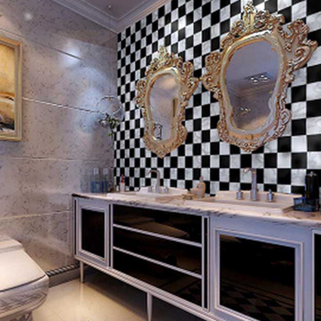 0,45*10 M Küche Bad PVC Tapete Fliesen Mosaik Selbst Klebstoff ...
