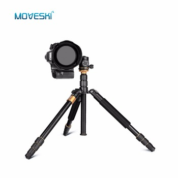 Moveski  Q999S Travel Camera Tripod Monopod 1440mm Aluminum Professional Camera 36cm with Ball head
