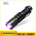 2016 NUEVO CREE LED UV Linterna SK68 Púrpura Violeta Luz UV 395nm Lámpara envío gratis