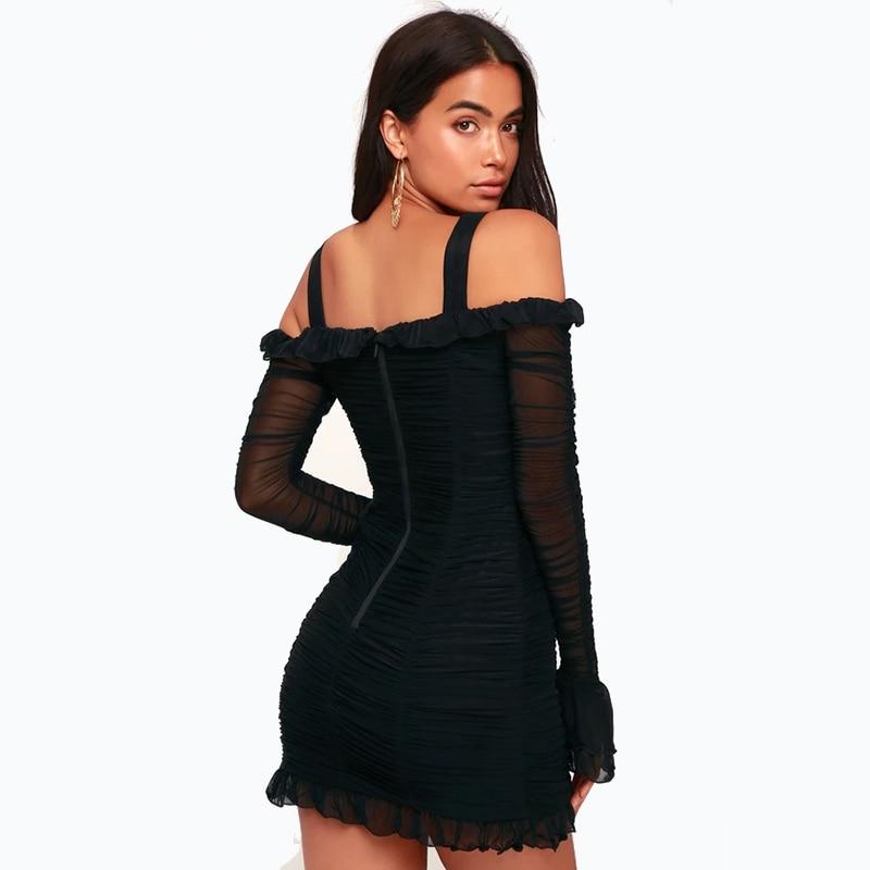 Erdaoben Verano Sexy Mini Femmes 2018 Moulante H5597 Robes Automne Robe Bandage sQxtCdhrB