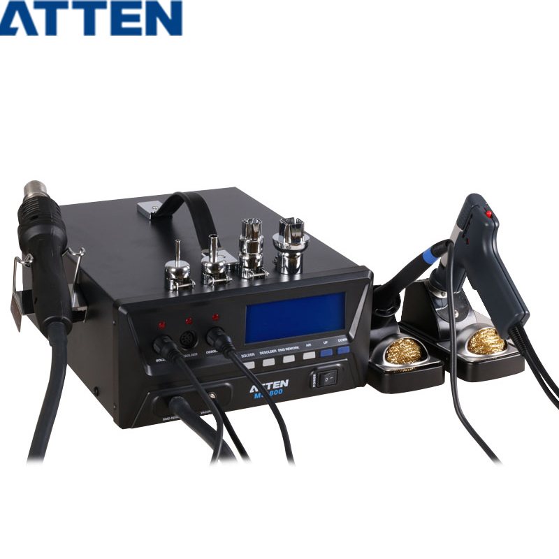ATTEN MS-800 800W 110V/220V Heat Guns + Soldering Stations + Suction tin Stations 3 in 1 Advanced maintenance system hot free shipping by dhl 6pcs 220v atten at969d 969d digital soldering stations soldering irons