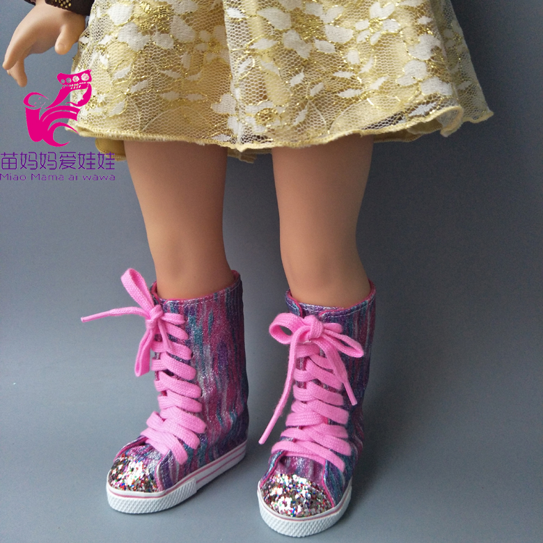 18 Inch Girls Dolls Long Boots Shoes For 43cm  Baby Doll Shoes Girl Play Toys Shoes Gifts