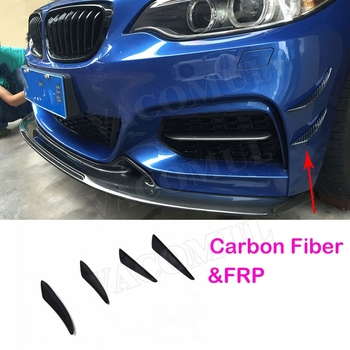4PCS/Set Front Bumper Side Canards Fins Trims Splitter Spoiler Carbon Fiber for BMW E90 E92 E93 F30 F32 F36 F10 G30 F06 F15 F16 image