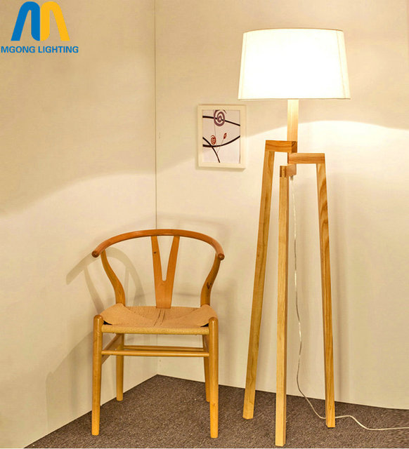 Modern Led Standing Lamp Beautiful Wooden Design Floor Lamps Japan With  Cloth Shade For Living Room