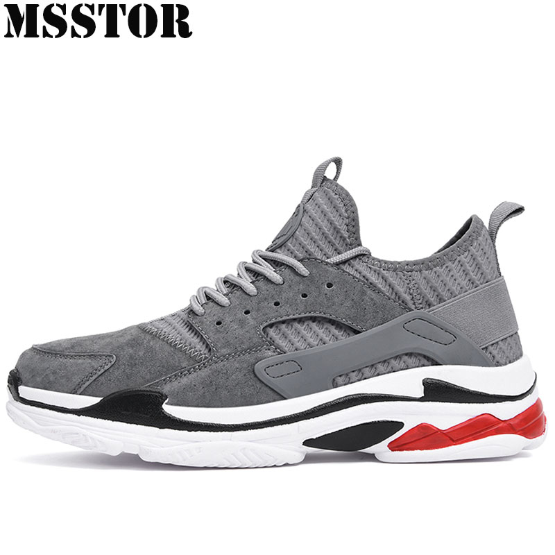 MSSTOR Spring 2018 Men Running Shoes Brand Super Light Sport Shoes For Man Breathable Mesh Sports Run Outdoor Athletic Sneakers msstor women running shoes summer breathable mesh sport shoes for woman brand outdoor athletic sports run womens sneakers 35 40