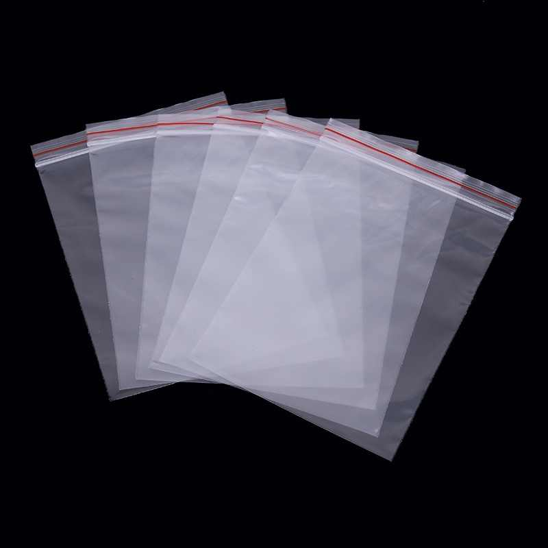 100pcs Transparent Self Sealing Plastic Bags Cellophane Bags Gifts Candy Bag & Pouch Jewelry Packaging Bag