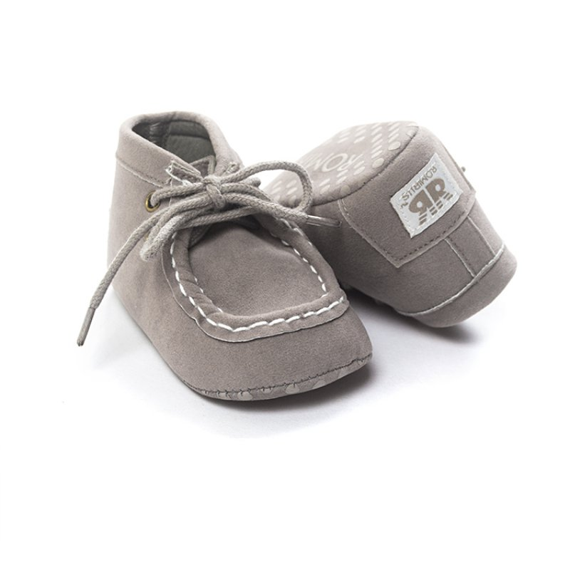 Infant Toddler Baby Boys Girls Shoes Fabric Lace up Soft Sole Shoes 0-18Months ...