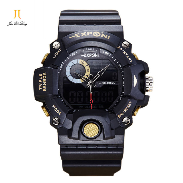 Men Sports Watch Waterproof shockproof Fashion Casual Quartz Watch Digital & Analog Military Multifunctional Men's Sport Watches