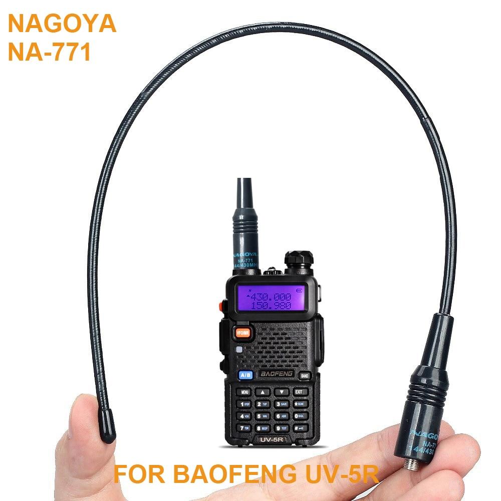 Nagoya na-771 sma-f female144/430 mhz dual band antenne pour baofeng uv-5r uv-b5/b6 bf-888s bf-uvb2 plus gt-3 uv-5re tg-uv2