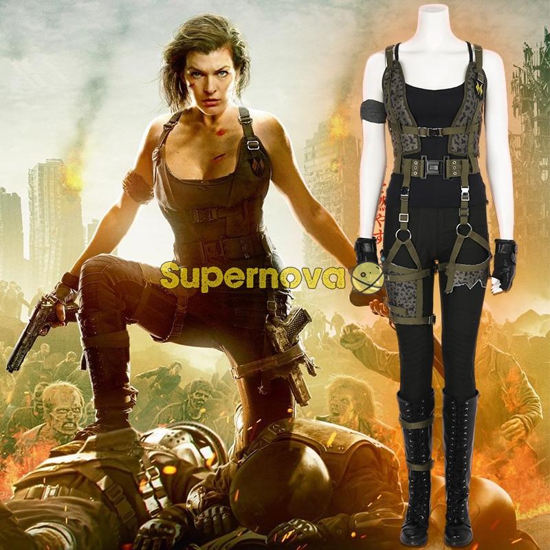 Supernova Resident Evil Costume Alice Costume Cosplay Resident