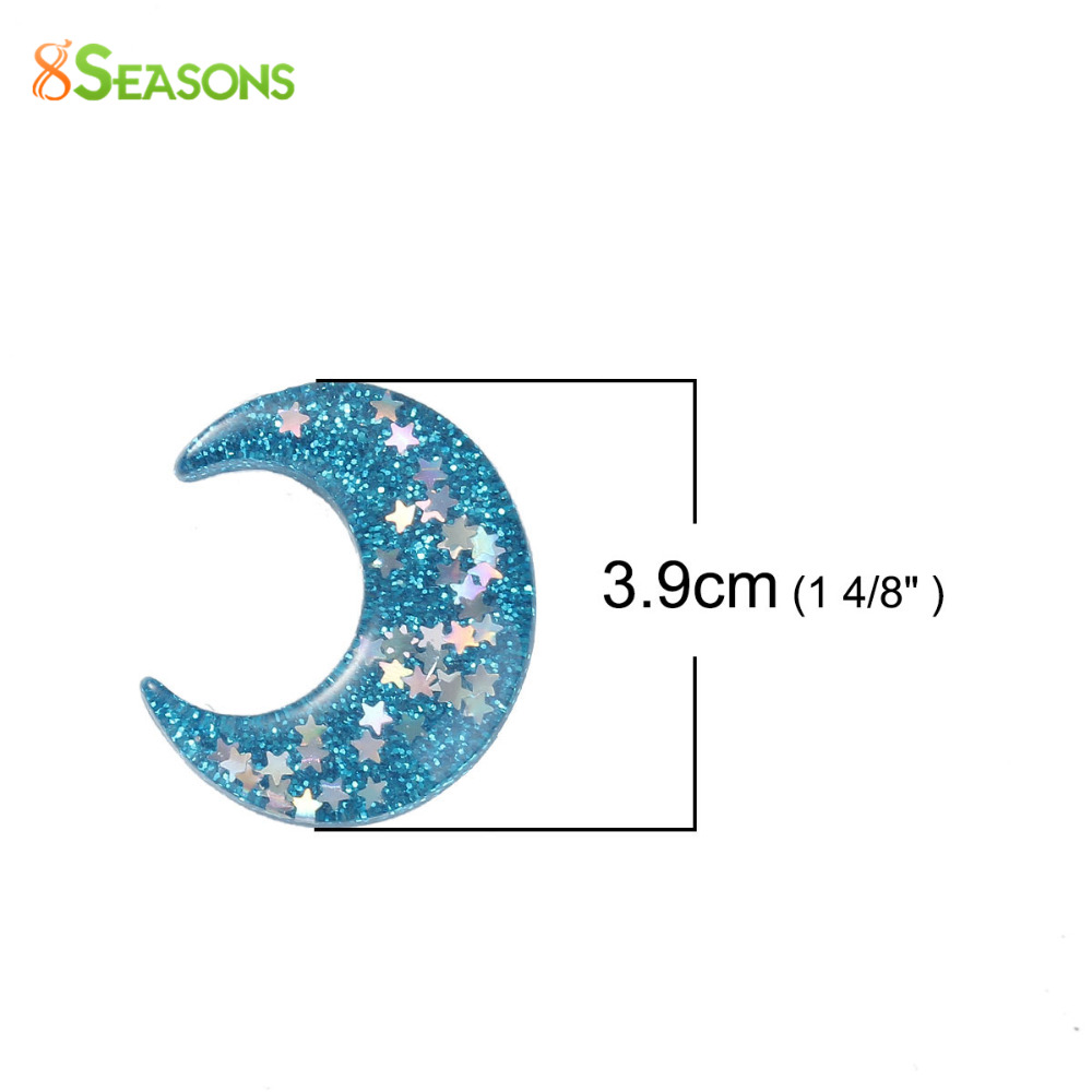 Aliexpress buy 8seasons 5 pcs half moon resin dome seals aliexpress buy 8seasons 5 pcs half moon resin dome seals cabochon findings with pentagram star blue glitter for diy crafts decoration 39x34cm from biocorpaavc