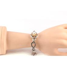 Pryme Snap Chain Link Bracelets & Bangles For Women Interchangeable Jewelry Fit 18MM Snap Buttons Strand Bracelets PB015