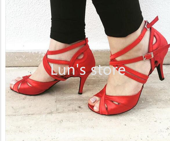 New Red Custom Made Color Sexy Salsa Tango Ballroom Dance Shoes Latin Dance  Shoes Salsa Dancing Shoes Bachata Dance Shoes 06b4a1294de9