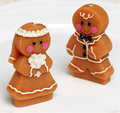 New!Christmas Gingerbread man lovers double-side sugar cake mold soap mold candle mold 2 pieces/set