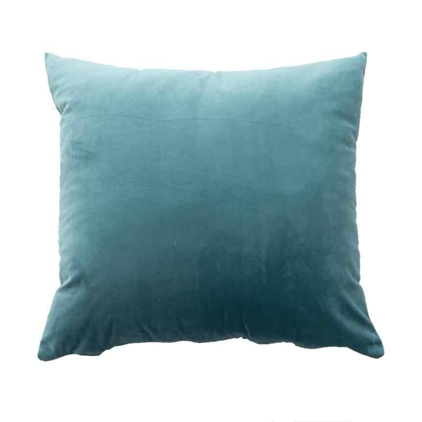 غطاء الوسادة 45x45 سنتيمتر وسادة قطيفة أريكة الخصر رمي غطاء وسادة المنزل ديكور غطاء الوسادة حالة