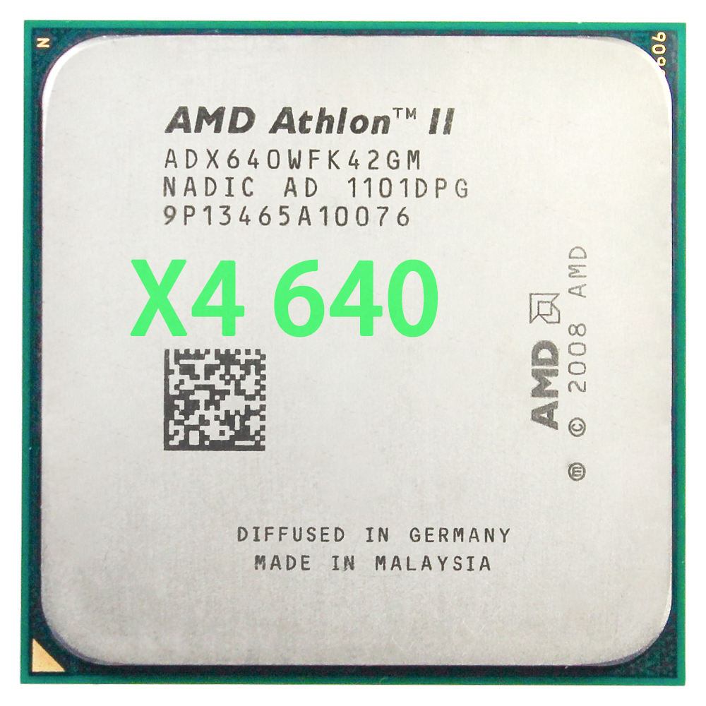 AMD Athlon II X4 640 Processeur (3.0 GHz/2 MB/Socket AM3) Quad-Core
