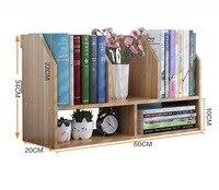 60 20 35CM Solid Wood Bookcase Portable Desktop Bookshelf Modern Office Book Shelf