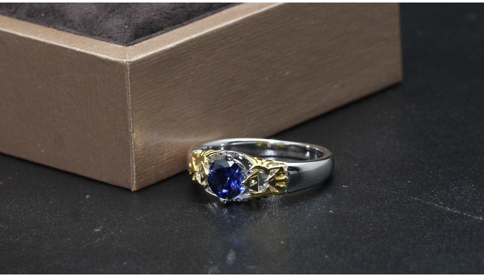 GZR0022-925S 0.8ct blue stone 2-tone gold (13)