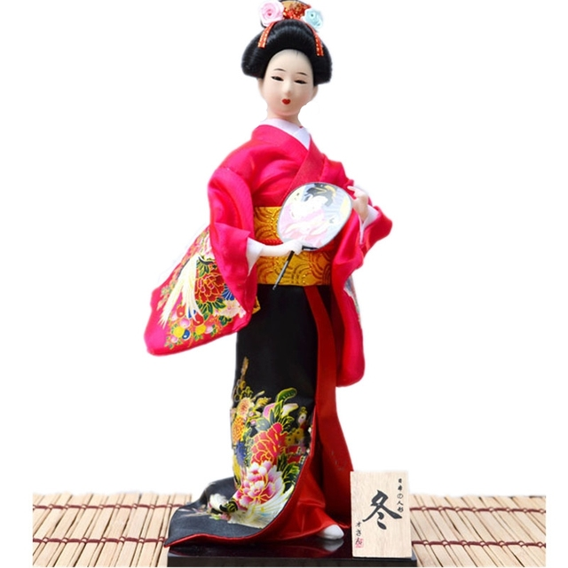 Kain Boneka Geisha Kimono jepang Figurines kerajinan tangan yang indah  membuat deocrative Geisha Miniatur Pernikahan deocration 6943d9eef5