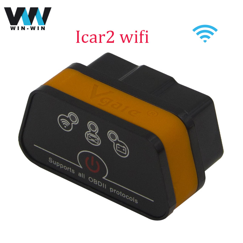 Vgate ELM327 WIFI v2.1 iCar2 Wifi OBD OBDII Diagnostic Tool ELM 327 iCar 2 WIFI Support for IOS /Android/PC Scanner