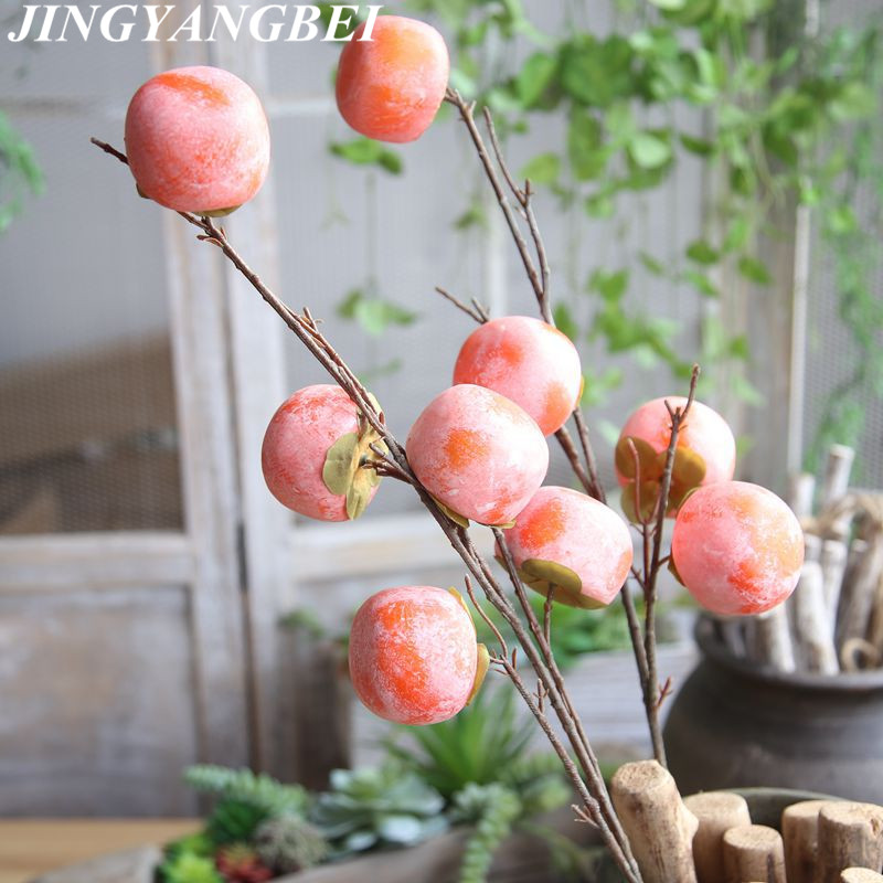 Persimmon Fruit Tree Branches Diospyros kaki persimmon high quality artificial fruits and vegetables home garden plant