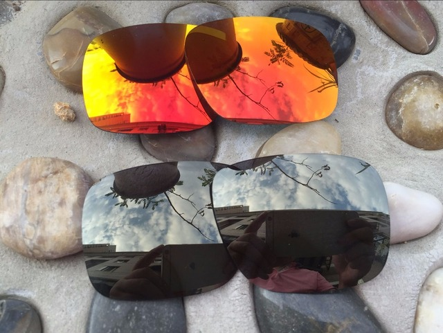 41ecb8cf366cf 2 Pares Black Iridium e Fire Red Lentes de Reposição para óculos Holbrook  Polarizada óculos de