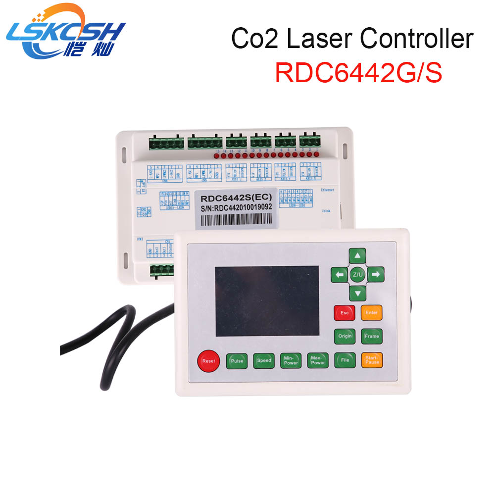 LSKCSH Ruida RD6442S RDC6442G Co2 Laser DSP Controller for Co2 Laser Engraving Cutting Machine Professional laser parts supplier ruida rd rdlc320 a co2 laser dsp controllerr rd320a co2 laser controller use for laser engraving and cutting machine