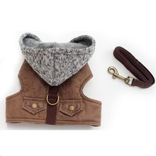 Dog Pet Harness Outdoor Walking Pet Lead Jeans Chest Pet Vest Harness For Small Dogs Leash Dring Teddy Poddle 3 Size XS S M