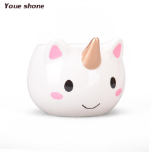 1pc New Nice Cartoon Unicorn Mug 3D Ceramic Coffee Cup Children Girl Creative Cute Gift Wild