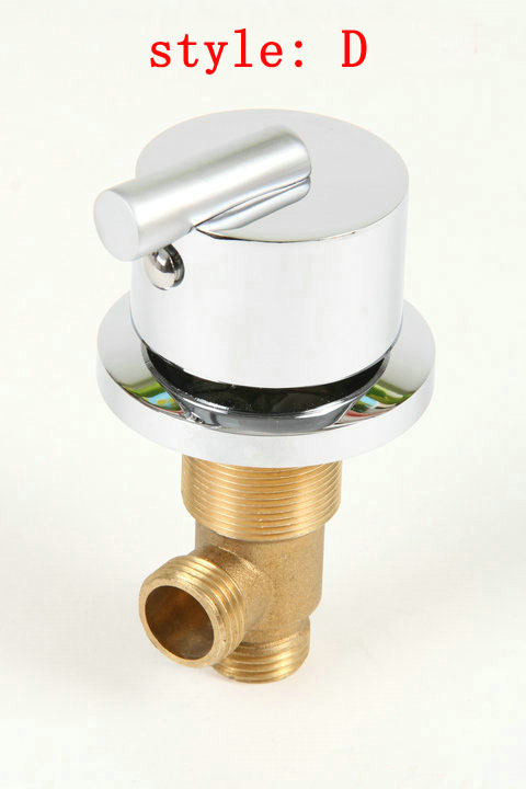 Shower Taps with Chrome, Brass bathtub set of taps for hot and cold water, switch shower valve, 3pcs shower faucet mixer