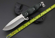 Newest!!!BUSSE Fixed Blade Survival Knife D2 Steel  G10 Handle Camping Tools