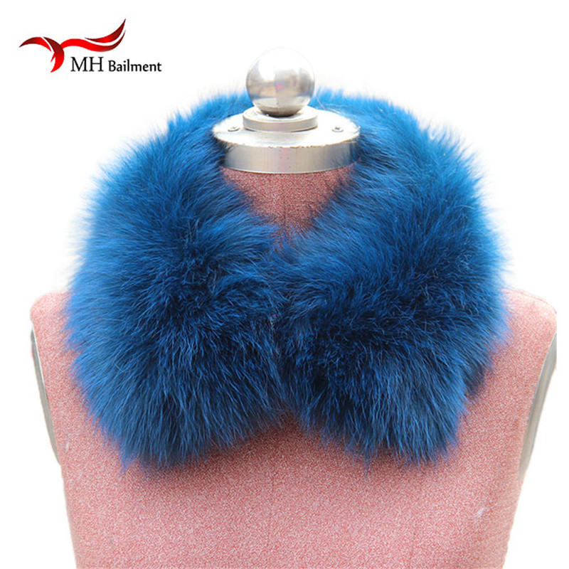 Real Fox Fur Collar Women 100 Natural Fox Fur Scarf Winter Warm Fur Collar short Scarves