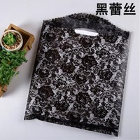 Free Shipping Black Color White Dot Dots Plastic Bags 30 40cm 100pcs Lot Wholesale Carrier Bags