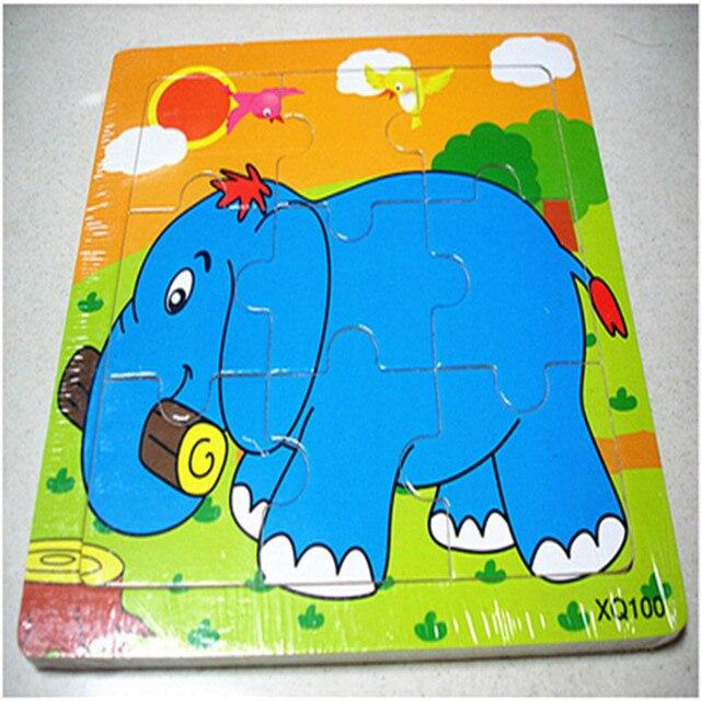 Comprar 1 unid 9 piezas elefante - Puzzles para ninos pequenos ...