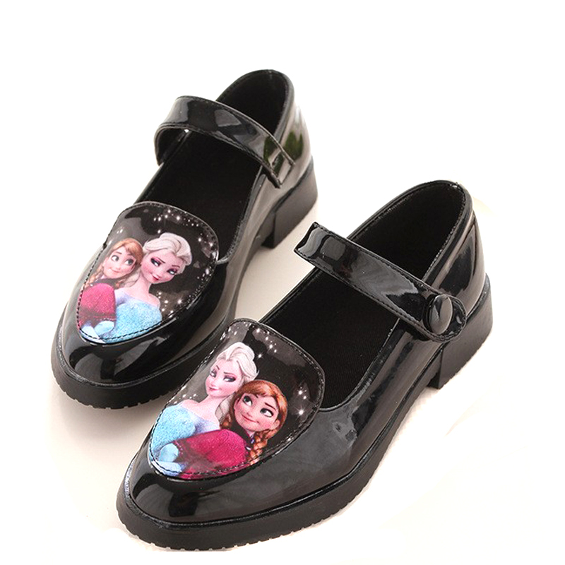 Elsa Patent Leather Shoes Kids Girls For Party Candy Color Low Heeled  Princess Girls School Shoes Calzado Ninas Reine Des Neiges-in Leather Shoes  from ... 87134fde1
