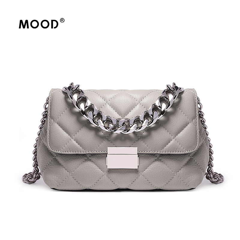 MOOD Genuine leather handbag in 2018 new soft top layer leather bag ladies bag fashionable chain The high quality messenger bag [100%] the new imported genuine 6mbp50rh060 01 6mbp50rta060 01 billing