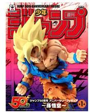 SALTAR 50th ANNIVERSARY FIGURA Super Saiyan Goku Banpresto originais/brinquedo Dragon Ball Z Goku modelo(China)