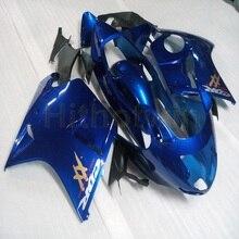 Carenado personalizado para motocicletas, molde de inyección plástica ABS en color azul y negro con botones, compatible con moto modelo CBR1100XX 1997 1998 1999 2000 2001 2002 2003
