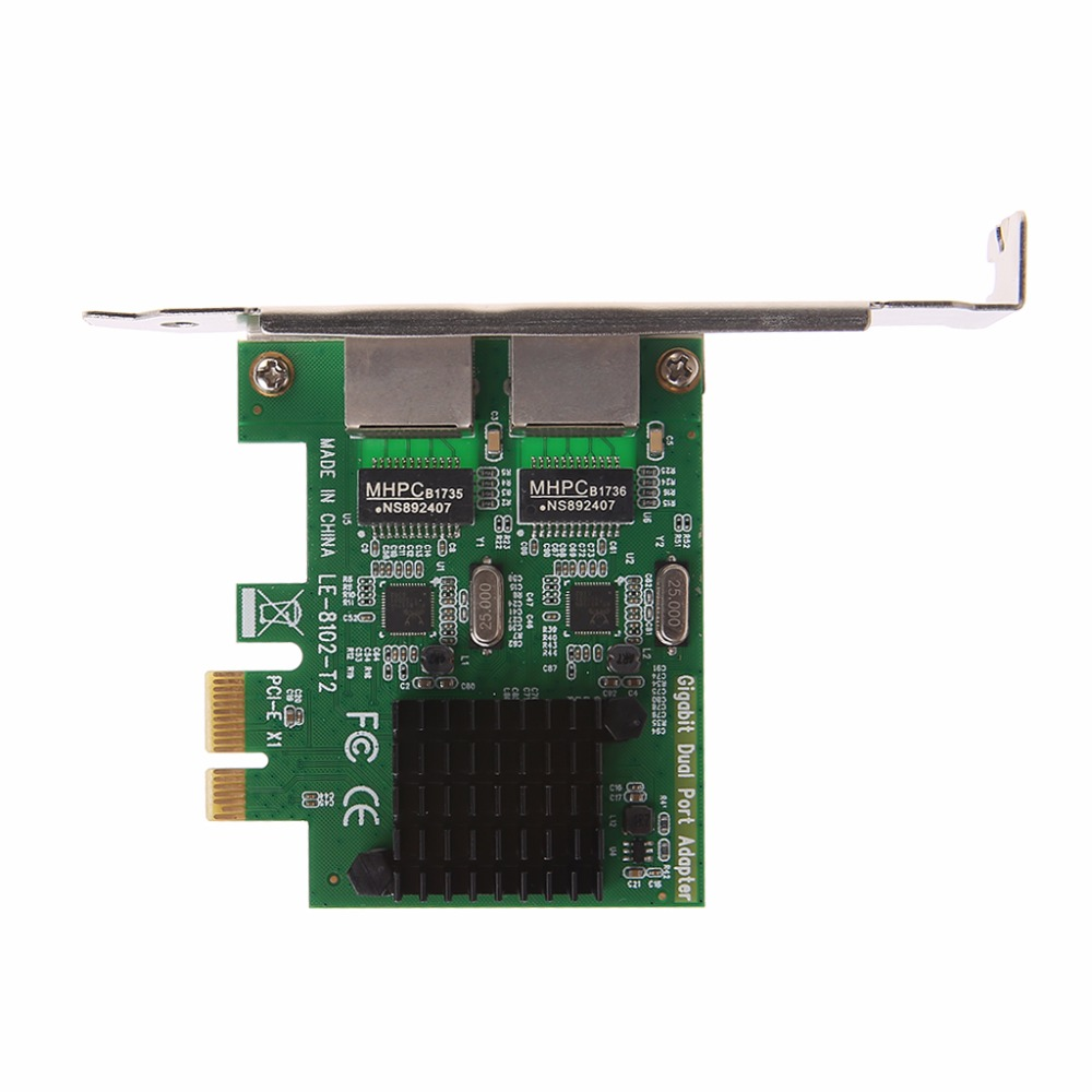 Image 5 - Dual Port PCI Express PCI E X1 Gigabit Ethernet Network Card 10/100/1000Mbps Rate LAN Adapter High Quality-in Network Cards from Computer & Office