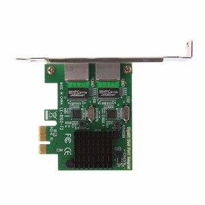 Image 5 - Scheda di rete PCI Express PCI E X1 Gigabit Ethernet a doppia porta adattatore LAN 10/100/1000Mbps di alta qualità