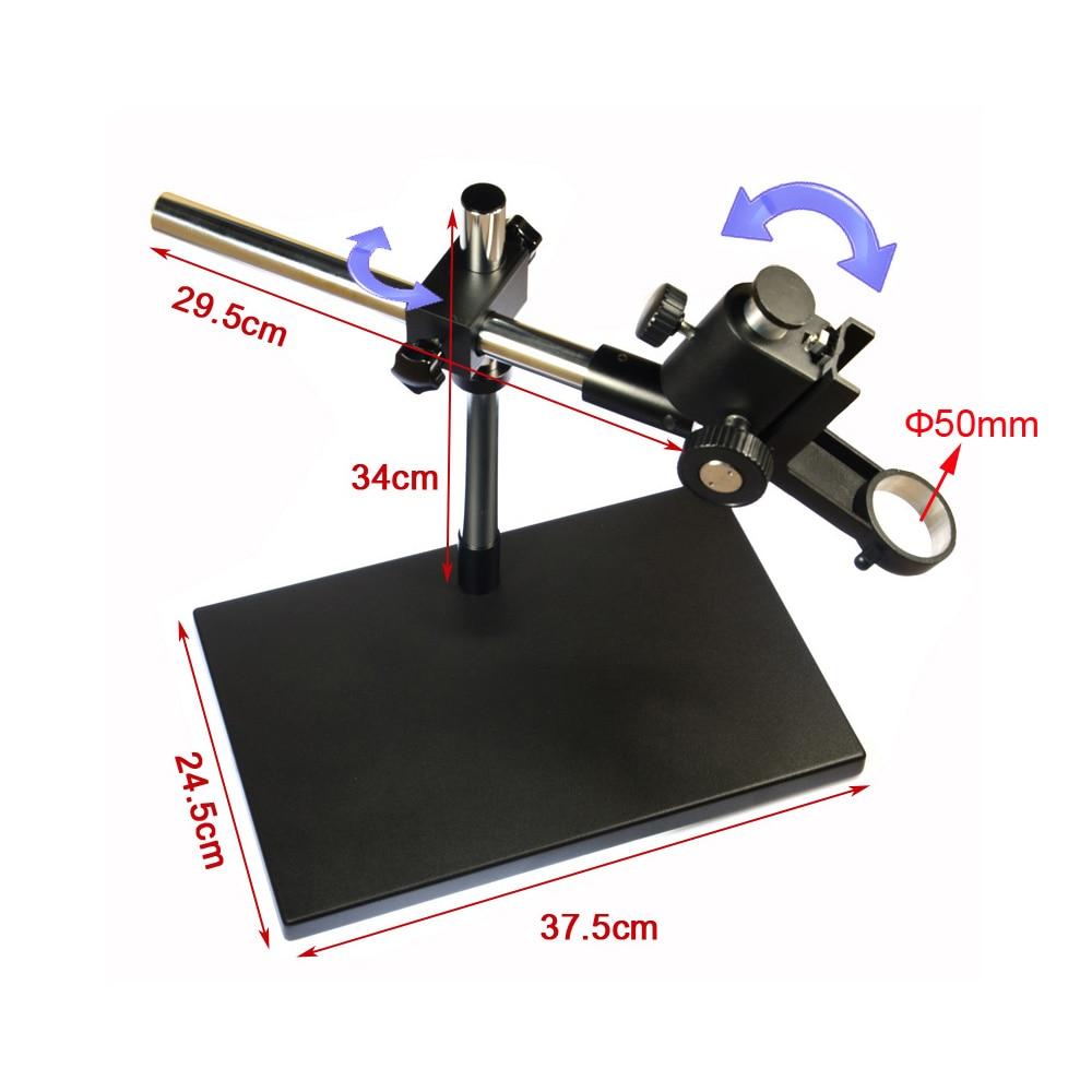 Dual-braço Pesados Boom Estéreo Suporte De Mesa De Metal 50mm Anel Titular Universal Grande Suporte de Mesa para Uso Industrial microsocpe