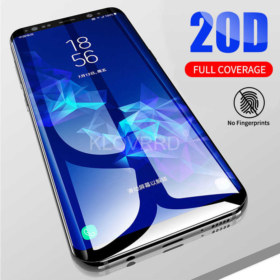 3D 20D Full Curved Full Cover Tempered Glass for Samsung Galaxy S10E S8 S9 Plus S7 Note 8 9 A8 A6 2018 Screen Protector